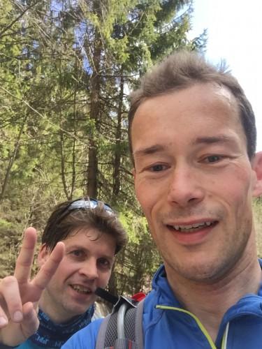 En rask selfie like før vending. Kristian Jahre smiler i bakgrunnen!