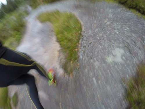 Skoene fra Saucony fungerte greit. Finnes sikkert bedre terrengsko, men disse passer meg som løper mest på asfalt.