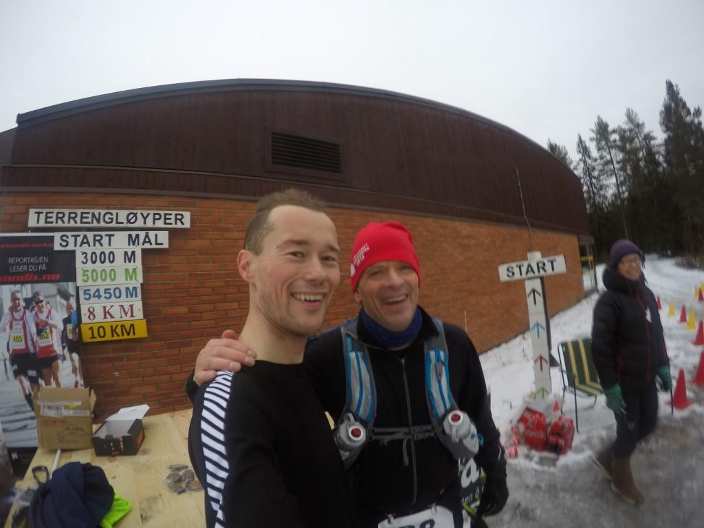 Meg og Knut Kronstad. Knut hadde tidligere rekorden med 13 norske ultraløp på et år.